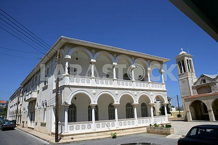 Ancient building on the street of Paphos