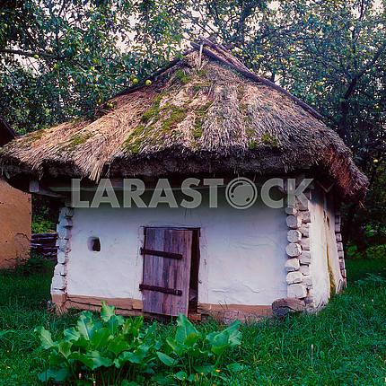 Ukrainian barn. Museum of Folk Architecture. Pereyaslav-Khmelnitsky