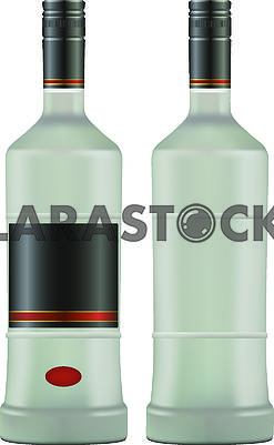 Bottles with vodka