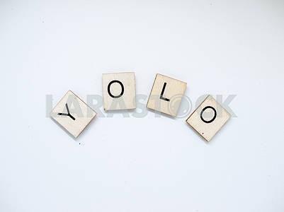 YOLO Wooden Letters