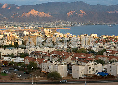 View of Eilat and Aqaba and the Red Sea