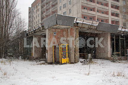 Left house in Pripyat