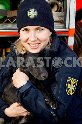 Rescue girl and dog