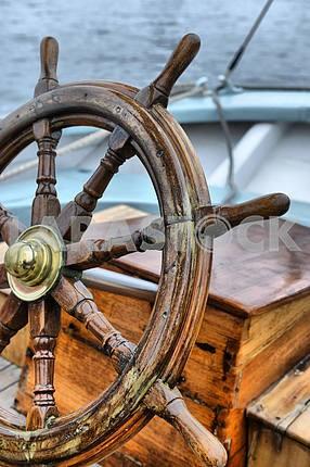 Steering wheel sailboat