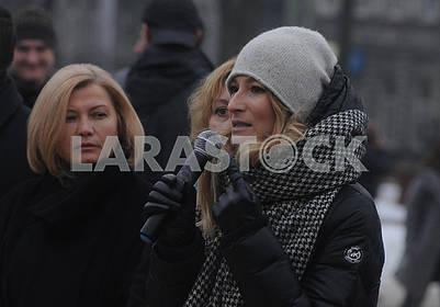 Irina Gerashchenko and Emine Dzhaparova