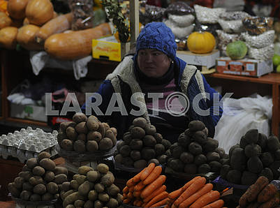 Seller in the Vladimir market