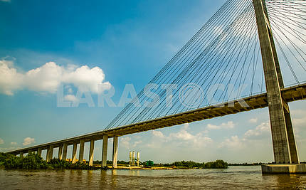 Bridge across the Saigon River Funan
