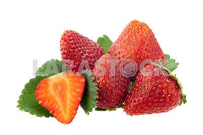Fresh, delicious, ripe strawberries