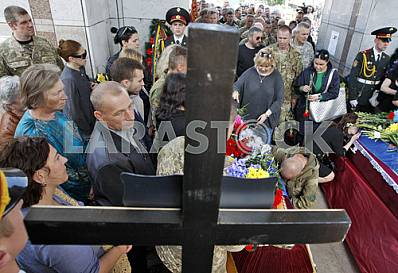 Funeral  to the soldiers Aydar in Kiev