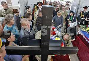 Funeral  to the soldiers Aydar in Kiev
