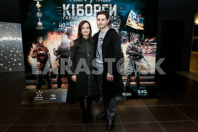 """The playwright Natalia Vorozhbit and the Director of the film """"Cyborgs"""", the Ukrainian and Crimean Tatar film actor, theater and film director, scriptwriter Ahtem Seitablayev"""