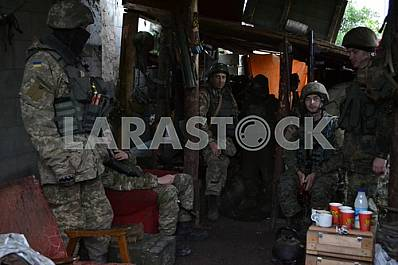 Warriors of the Armed Forces of Ukraine in the Avdeevskaya industrial zone