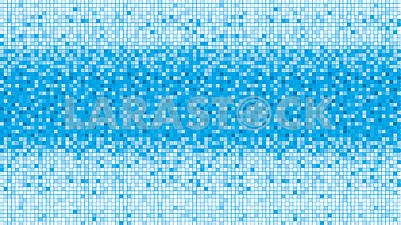Blue retro background with mirror mosaic pattern