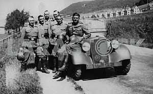 German soldiers in the Czech Republic
