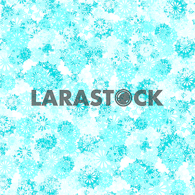 Seamless background with blue and white snowflake