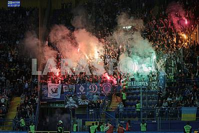 Fans of Dynamo Kiev in the guest sector