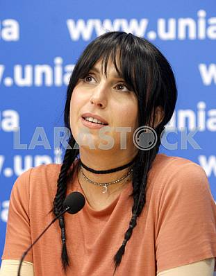 Jamala at a press conference