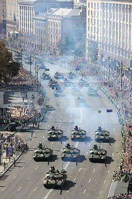 Tanks on the parade