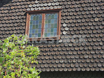 Wooden roof and window