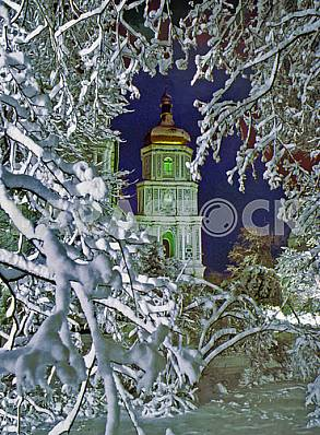 The bell tower of St. Sophia Cathedral winter 1998