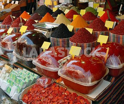 Spices in turkish market