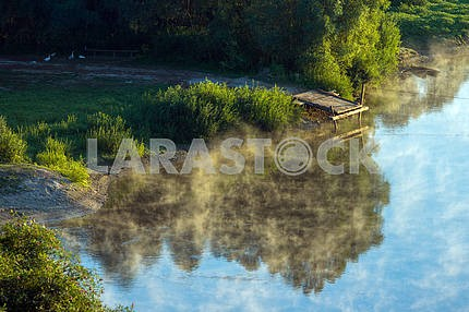 Fishing on the River Desna. The village of Mezin. Chernihiv region