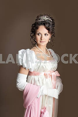 Girl in old fashioned dress
