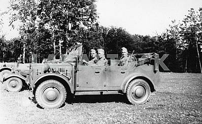 German soldiers in the car