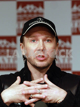Actor Yevgeny Mironov at a press conference