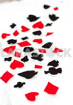 Signs of playing cards