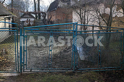 Old metal gates