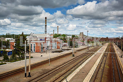 Railway station in quarantine covid-19. Kramatorsk.