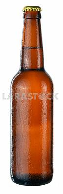 Bottle of beer with drops