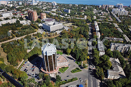 Odessa. Aerial view. The regional administration September 27, 2011