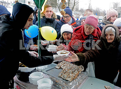 Celebration of Maslenitsa in Kiev