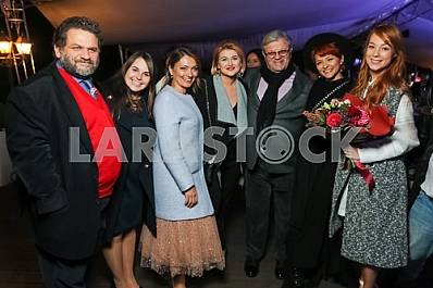 "Valery Chiglyaev with his wife, Ilya November with his wife, Svetlana Tarabarova on the 10th anniversary of the magazine ""Focus"""