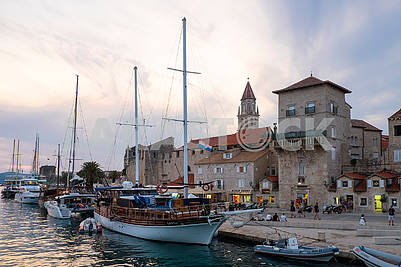 Embankment in the Old Town, Trogir, evening