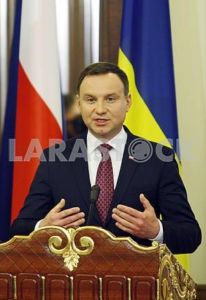 President of the Republic of Poland Andrzej Duda in Kiev.