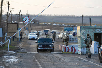 Checkpoint entrance-exit Gnutovo