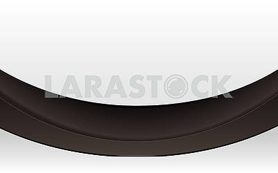 Blank abstract white background with black ribbon