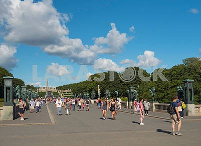 Tourists in the Vigeland Park