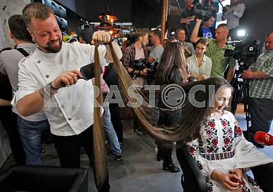 Registration record of Ukraine on the longest natural hair