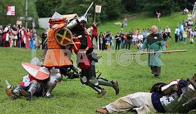 Knight tournament at the festival