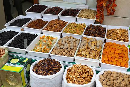 Eastern sweets at the bazaar in Konya