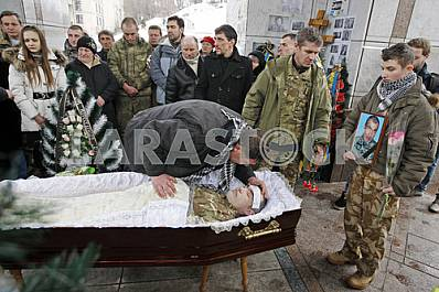 Funeral ceremony for a fighter from battalion Aydar.
