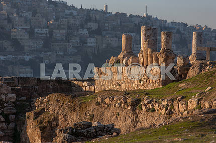 Ruins of a Roman city in Amman