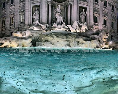 The Trevi Fountain (Italian: Fontana di Trevi) in Rome, Italy