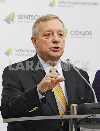 A press-conference of US senators in Kiev.