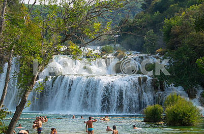 Waterfall on the Krka River