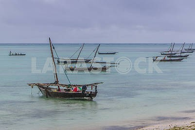 Fishermen in the Indian Ocean